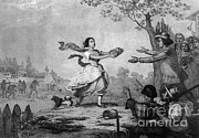 Bravery Prints - The Heroism Of Miss Elizabeth Zane, 1782 Print by Photo Researchers