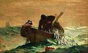 Canvas Reproduction Paintings - The Herring Net by Pg Reproductions