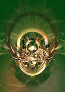 Green - The hidden ancestor - Abstract digital art by Sipo Liimatainen