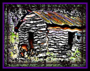 Sheds Digital Art Prints - The Hideaway Print by Leslie Revels Andrews