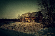 Wisconsin Art Posters - The Hiding Barn Poster by Joel Witmeyer