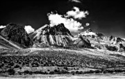 High Country Prints - The High Andes monochrome Print by Steve Harrington