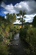 River. Clouds Framed Prints - The High Road to Taos Framed Print by Timothy Johnson