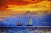 High Seas Metal Prints - The High Seas Metal Print by Bill Cannon