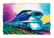 Locomotive Pastels Prints - The Highball Print by Sean OConnor
