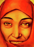 Hijab Paintings - The Hijab by Nduta Kariuki