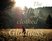 The Hills Are Clothed In Gladness Print by Robin Hall