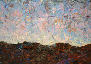 Sunrise Paintings - The Hills by James W Johnson