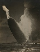 New Jersey History Framed Prints - The Hindenburg Hits The Ground Framed Print by Everett