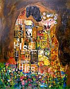 Gustav Klimt. Kiss Posters - The Hiss Poster by Susie DeZarn