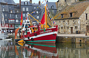 Trawler Metal Prints - The Historic Fishing Village of Honfleur Metal Print by Louise Heusinkveld
