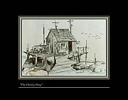 Shack Drawings Prints - The Hobby Shop Print by Walt Green