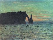1883 Paintings - The Hollow Needle at Etretat by Claude Monet