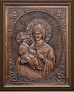 Christ Reliefs Framed Prints - The Holly Mother with Jesus Christ Framed Print by Netka Dimoska