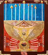 Menorah Paintings - The Holy Cup by Claudia French