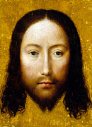 Jesus Christ Icon Painting Metal Prints - The Holy Face Metal Print by Flemish School