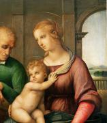 Virgin Mary Painting Prints - The Holy Family Print by Raphael