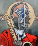 Jazz Painting Originals - The Holy Ghost by Martel Chapman