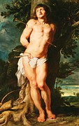 Religious Art Paintings - The Holy Saint Sebastian by Pg Reproductions