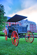 Horse And Buggy Framed Prints - The Homestead Carriage II Framed Print by Steven Ainsworth