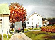 Amish Buggy Paintings - The Homestead by Dale Ziegler