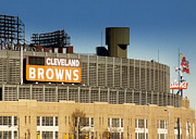 Browns Framed Prints - The Hometeams in Color Framed Print by Kenneth Krolikowski