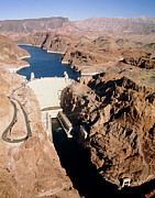 Hoover Dam Prints - The Hoover Dam, Colorado River. Print by David Parker