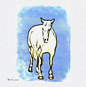 The Horse Metal Prints - The Horse Metal Print by Bill Cannon