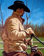 Rodeo Pastels Posters - The Horse Trainer No. 2 Poster by Joyce Geleynse
