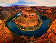 Large Format Digital Art Posters - The Horseshoe Bend Poster by Daniel Chui