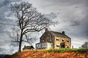 Haunted House Digital Art Metal Prints - The House on the Hill Metal Print by Dan Stone