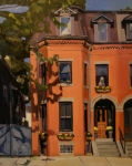 Brownstone Art - The House Sitter by Deb Putnam