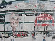 Chicago Cubs Paintings - The House that Harry Built by David Hipwell