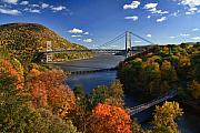 Hudson River Art - The Hudson River Valley in Autumn by June Marie Sobrito