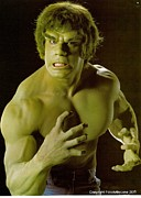 Fine Art Nude Prints - The HULK  Print by Jake Hartz