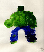 Hulk Painting Framed Prints - The Hulk Framed Print by Vincent Gitto