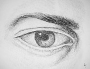 Eye Drawings - THE HUMAN EYE Fine Art Illustration by Roly O by Roly D Orihuela