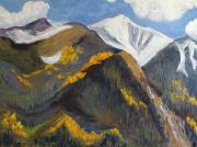 Inspirational Paintings - The Hunt on Mount Antero Buena Vista Colorado by Zanobia Shalks