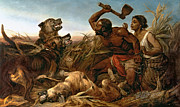 Attack Paintings - The Hunted Slaves by Richard Ansdell