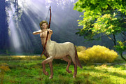Forest Digital Art - The Hunter by John Edwards