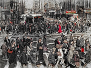 Kathy Jennings Prints Prints - The Hustle and Bustle Of The City Print by Kathy Jennings