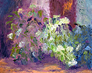 Garden Scene Paintings - The Hydrangeas by Patricia Huff