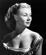 Bare Shoulder Metal Prints - The I Dont Care Girl, Mitzi Gaynor Metal Print by Everett