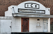 Brick Building Art - The Ice House by JC Findley
