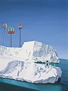 Ice Painting Framed Prints - The Iceberg Framed Print by Scott Listfield