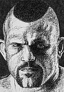 Mixed Martial Arts Drawings - The Iceman Cometh by Maria Arango
