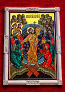 The Resurrection Of Christ Posters - The icon of the Resurrection of Our Lord Jesus Christ Poster by Gennadiy Golovskoy