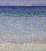 Blue Purple Paintings - The Iles dOr by Henri Edmond Cross