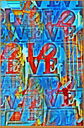 Love Statue Prints - The Illusion of Love Print by Bill Cannon