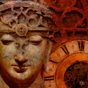 Buddhist Art Mixed Media Posters - The Illusion of Time Poster by Christopher Beikmann
